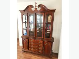 lexington furniture china cabinet free to collect solid wood lighted china cabinet hutch by