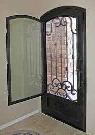 traditional scroll iron entry door by impression security