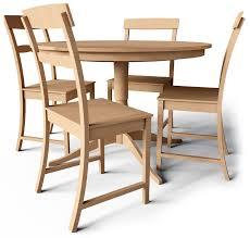 CAD And BIM Object Leksvik Drop Leaf Table And Chairs IKEA - Ikea leksvik drop leaf dining table