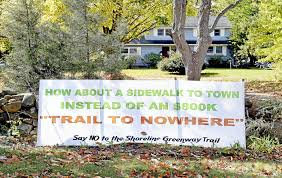 Scsu Map Shoreline Greenway Trail Plan Divides Guilford Residents New