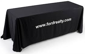 black display table cloth display tables for registration convention or trade show events