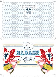 benign objects free printable mother u0027s day card one badass mother