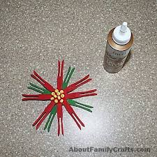 diy clothespin poinsettia about family crafts