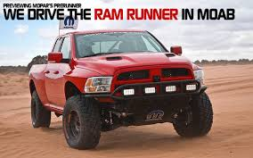 2017 dodge prerunner previewing mopar s prerunner we drive the ram runner in moab