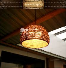 2017 decorative rattan wicker pendant lamps lights for wholesale
