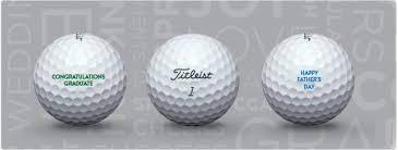say it with titleist free personalization on all titleist golf