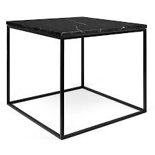Modern Side Table Gleam Black Marble Modern Side Table Eurway Furniture