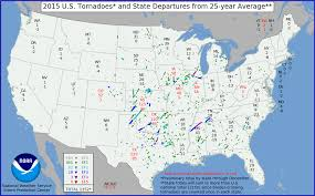 Fat Map Usa by Tornado Climatology