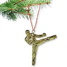 taekwondo sidekick ornament taekwondo tree