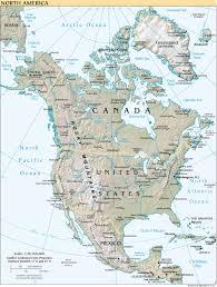 Map North America Map North America Map Collection Continent North America Record