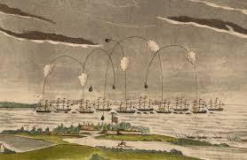 American Flag 1845 The British Attack On Fort Mchenry Spar Spangled Banner
