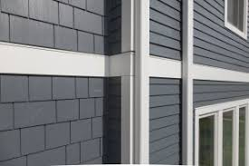 fiber cement siding pros and cons james hardie fiber cement siding in evening blue with hardieshingle