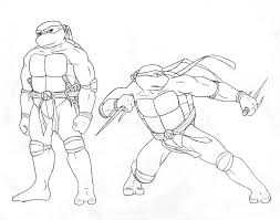 ralph ninja turtle coloring page free large images