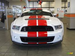 Red And Black Mustang Gt 2014 Oxford White Ford Mustang Shelby Gt500 Svt Performance