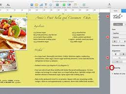 free recipe template for mac pages cover letter templates recipe