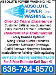 Pressure Washing Estimate by Absolute Power Washing Inc Charles Mo 63304 Yellowbook