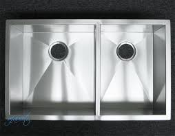 32 inch stainless steel undermount 60 40 double bowl kitchen sink
