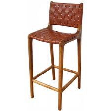 strap leather bar stool tan bar stools interiors online
