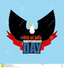 symbol of independence day of america flying eagle bird predator