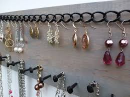 necklace storage display images Jewelry organizer necklace holder earring storage display wall jpg