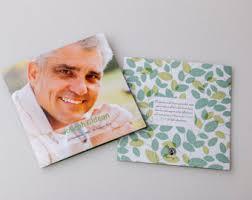print funeral programs memorial card template square booklet