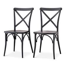 Black Metal Bistro Chairs Malden Bistro Dining Chair Black Threshold Target