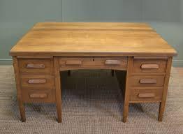 large characterful edwardian antique oak partners desk antiques