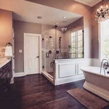 Wood Floors In Bathroom by Beautiful Master Bath Love The