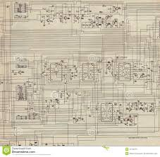 electrical plan old paper stock illustration image of blueprint