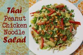 thai peanut chicken noodle salad recipe sew much ado