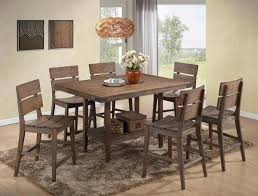 bradon 5 piece counter height dining set in rustic brown finish by