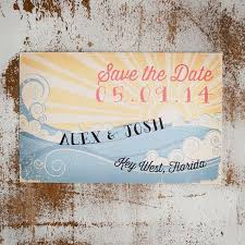 Rustic Save The Date Cards Beach Save The Date Save The Date Card The Wave Rustic Save