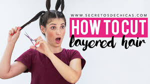 how to cut layered hair with ponytails haircut women youtube