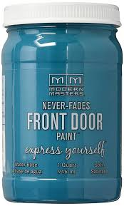 Teal Front Door by Modern Masters 296681 Qt Teal Satin Front Door Paint Tranquil