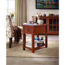 better homes and gardens oxford square end table with drawer blue