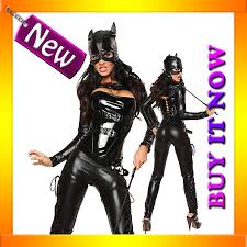 catwoman halloween suit 9129 catwoman superhero u0026 villain ladies fancy costume ebay