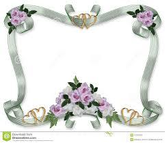 cadre photo mariage cadre de roses d invitation de mariage photos stock image 10197903