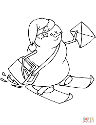 snowman postman coloring page free printable coloring pages