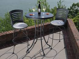 here at outdoor living llc latte bar cushion steel dining set