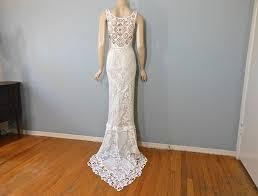 handmade wedding dresses handmade hippie wedding dress crochet boho wedding by museclothing