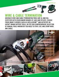 wire u0026 cable termination greenlee pdf catalogue technical