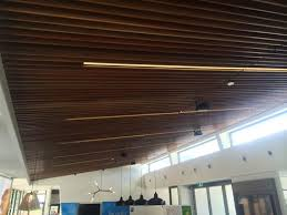 Wood Slat Ceiling System by Acoustic Timber Slat Ceiling Decor Systems