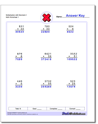 multiplication with decimals