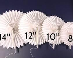 white paper fans paper fans etsy