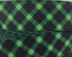 and black plaid ribbon green plaid ribbon etsy