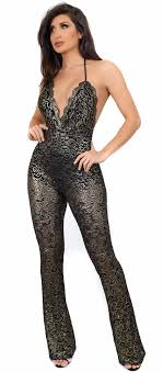 black and gold jumpsuit jumpsuits and rompers emprada
