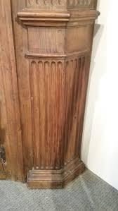 glazed carved pine barrel back corner cupboard sale number 2961b