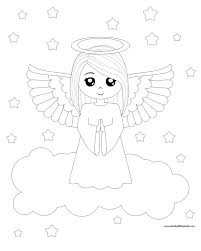 inspiring design angels coloring pages print christmas angel and