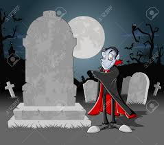 halloween funny cartoon pictures halloween cemetery background with tombs and funny cartoon classic