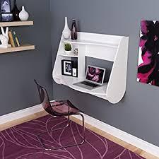 Designer Floating Desk Amazon Com White Wall Mounted Desk Hutch Kitchen U0026 Dining